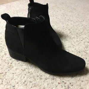 Blondo Waterproof Ankle Booties in Black Suede